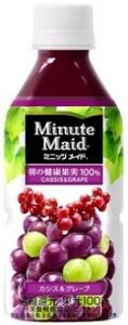 ミニッツメイド カシス グレープ 350ml 24本 (24本×1ケース) フルーツジュース 果汁100%ジュース ペットボトル PET【送料無料】
