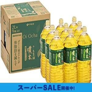 1) 2L×9本 [Amazon限定ブランド] 伊藤園 RROボックス おーいお茶 濃い茶 2L ×9本【機能性表示