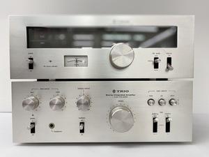 通電OK TRIO トリオ KT-3300 AM/FM ステレオチューナー/KA-3300 ステレオ デッキ ケンウッド 2台セット 奈良県発(36-42.Z)H21 310