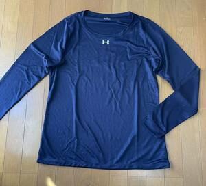 ★アンダーアーマー ロングスリーブ 長袖シャツ 3XL ネイビー 紺 新品 トレーニング 大きいサイズ