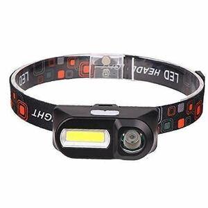 送料無料ミニヘッドランプ 小型軽量 LEDヘッドライト LEDヘッドランプ ヘッドライト xpe cob ダブルライト 超軽量 USB充電式 生活防水