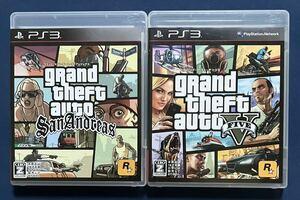 【動作確認画像有】 PS3 グランド・セフト・オート サンアンドレアス グランドセフトオートⅤ GTA グラセフ 2点セット まとめ売り ゲーム