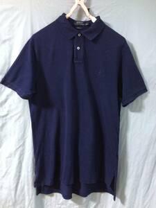 ラルフローレン 半袖ポロシャツ メンズ L 180cm位 綿100%  (管0059)
