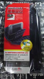 Nintendo Switch Lite ELECOM ZEROSHOCK ソフトポーチ ブラック 衝撃から守ってスマートに持ち運び 衝撃吸収性優れた低反発ポリウレタン
