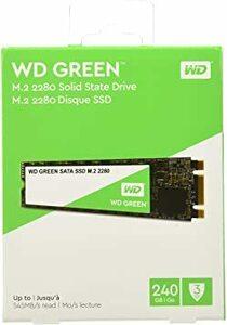 240GB WD 内蔵SSD M.2-2280 / 240GB / WD Green / SATA3.0 / / WD