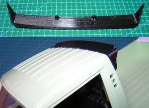 3DプリンタPLA+「ルーフスポイラー黒(嵌込み固定用)」1/10 WPL D12 スズキ キャリイ用