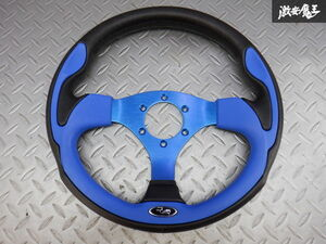 selling out!! there is no final result!! unused immediate payment stock have super-discount special price DAIKEI large . industry RALLY Rally steering gear steering wheel blue blue 320mm