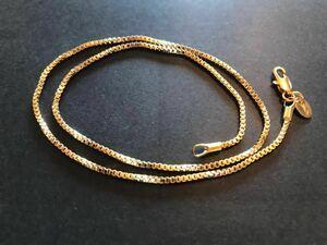 ゴールド ネックレス 18K/40cm/ベネチアンネックレスチェーン 新品未使用 送料無料 サイズが合えばお得 男女兼用可 早い者勝ち☆