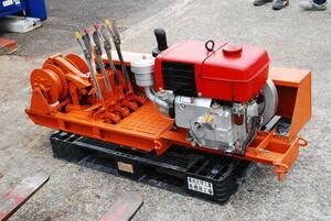 ウインチ  ディーゼルエンジン 集材 林業 林内作業 木こり