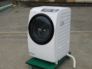 【動作OK】HITACHI ドラム式洗濯機 BD-S8600L 10kg/6kg 左開き ビッグドラムスリム 自動おそうじ ヒートリサイクル 清掃済み 中古 引取OK