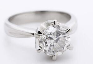 ★極美品★ Pm900 大粒ダイヤモンドリング D2.151ct 約8.2g 約12号 ダイヤモンド リング プラチナ 一粒ダイヤ ダイヤリング