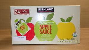 p30-1 カークランド シグネチャー オーガニック 有機 アップルソース リンゴ 有機りんご コストコ