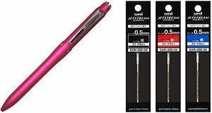 ピンク(替芯3色付き) 三菱鉛筆 多機能ペン ジェットストリームプライム 3&1 0.7 ピンク MSXE450000