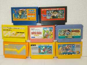 8本セット 送料無料 スーパーマリオブラザーズ3 ドラゴンクエストⅢ ドラゴンボール USA ファミコンソフト カセット まとめ ジャンク
