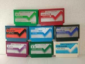 8本セット ドンキーコング3 ポパイ 送料無料 ファミコンソフト カセット まとめ ジャンク