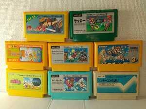 8本セット 戦いの挽歌 ソロモンの鍵 スーパーマリオブラザーズ3 迷宮組曲 アイスクライマー ファミコンソフト カセット まとめ ジャンク