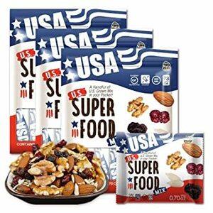ミックスナッツ US SUPERFOOD USスーパーフード 20g x 10袋 x 3個(30袋-1ヶ月分)アメリカ直輸入(素