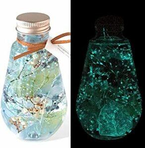 ブルー フローリストレマン ハーバリウム プリザーブドフラワー 光る 蓄光 サプライズ プレゼント 贈り物 ルミナリウム スター