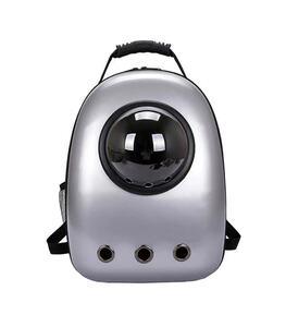 ペットキャリー リュック シルバー 新品未使用品 旅行バッグ ペットグッズ ペットバッグ 猫用キャリーバッグ