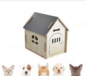 ペットハウス ペットの小屋 PET HOUSE 屋内用 ドア付き DIY 組み立て Mサイズ 【領収書発行可能】