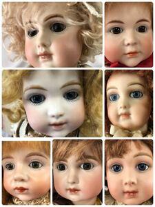 1000円~女の子 ビスクドール 1992年 2012年 KAISER 2体 アンティーク お人形 ドレス まとめ 7体 okoy1154290-93★o1072