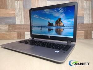 送料無料!!! メモリ&SSD新品交換済 #147 HP ProBook 450 G3 Core i7 6世代/新品8GB/新品256GB/Webカメラ付/標準リカバリ付属/Office2019