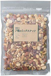アイリスプラザ 食塩無添加 7種 ミックスナッツ 300g (アーモンド、カシューナッツ、くるみ、ピーカンナッツ、ピスタチオ、マ