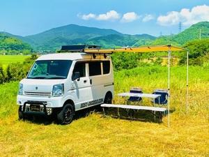G☆flap サイドタープ 2X2.5M サイドオーニング キャンピングカーに 車中泊 軽キャン キャンパー アウトドア キャンプ エブリィ