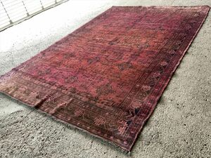 288×191cm アフガニスタン産 絨毯 ラグ アンティーク家具 マジック カーペット 01AZMRB211013012E