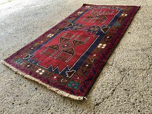 ★美品★148×81cm アフガニスタン・ヘラート・シルダン産 絨毯 ラグ アンティーク家具 マジック カーペット 01ADBRM211013014C