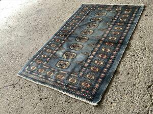 118×77cm パキスタン・ラホール産 絨毯 ラグ アンティーク家具 マジック カーペット 01ADSRS211019001C
