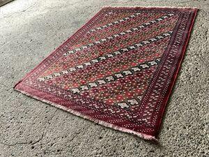 136×101cm ペルシャ絨毯 絨毯 ラグ アンティーク家具 マジック カーペット 01AOMRM211019010D