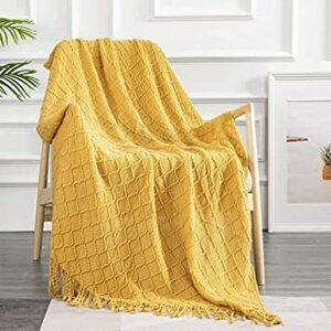 新品 イエロー 150x200cm YOKISTG ブランケット 毛布 150x200cm 防寒 プレゼント 肩掛けFZJ3