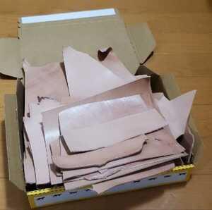 栃木レザー ヌメ革 ナチュラル ハギレ レザークラフト ハンドメイド材料 タグ