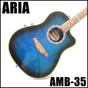 ARIA エレアコ AMB-35 全長約105cm 弦高6弦約4mm フレット数20 アコースティックギター アリア