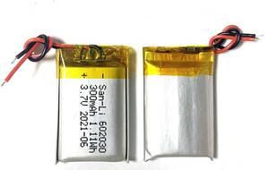 3.7V バッテリー 300mAh リチウムポリマー電池 リチウム充電式バッテリー 充電池 角形 602030 スマートウォッチ Bluetoothヘッドセット等