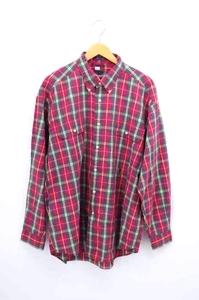 トミーヒルフィガー TOMMY HILFIGER チェック柄ボタンダウンシャツ メンズ XL 中古 古着 211026