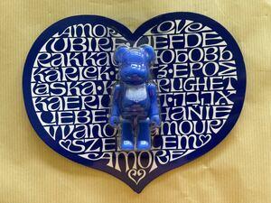 ★新品未開封 Alexander Girard International Love Heart Azur BE@RBRICK 100% / アレキサンダー ジラルド メディコムトイ ベアブリック
