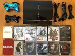 動作品 PS1/2/3ソフト(メタルギアソリッド1~5など)プレイできる PS3本体(大容量320GB)+コントローラ2個 CECHA00 プレイステーション3
