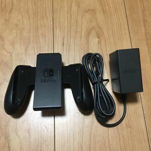 【純正品】NintendoSwitch ジョイコングリップとacアダプターのセット