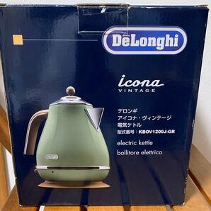 DeLonghi KBOV1200J-GR★デロンギ アイコナ・ヴィンテー 電気ケトル