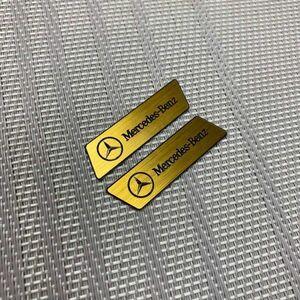◆Enekey ステッカー 表裏セット◆ Mercedes-Benz 金/黒 計2枚 ■ エネキー メルセデス ベンツ S E C W211 E400 E500 CLK フロアマット