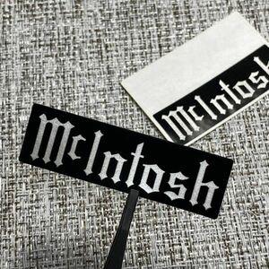◆ McIntosh 艶黒/銀 ステッカー 60mm 2枚 ■ マッキントッシュ ラック 電源 修理 カスタム メーター交換 真空管 Vacuum tube