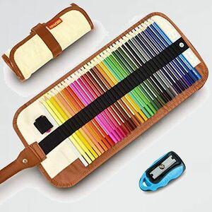 好評 新品 36色画材セット 色鉛筆 F-V3 鉛筆削り、収納ケ-ス付き [並行輸入品] COVACURE 塗り絵 用 子供、学生、大人向け 学校教材用