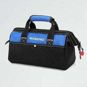 好評 新品 ツ-ルバッグ WORKPRO 5-D7 ワイドオ-プン 幅33cm 工具差し入れ 道具袋 工具バッグ 大口収納 600Dオックスフォ-ド
