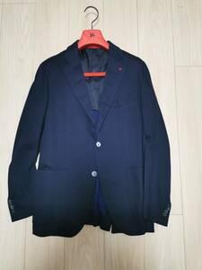 2020年購入 美品 ISAIA イザイア ジャージージャケット 50 ネイビー ストレッチ 東京ミッドタウン店購入 国内正規品