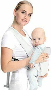 メッシュ CUBY 抱っこひも ベビースリング おんぶ 軽量 お出かけ コンパクト 持ち運び 脱着 簡単 安全 綿100% (メ
