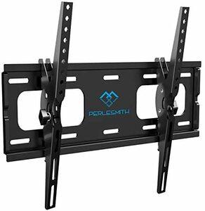 VESA400x400mm PERLESMITH 26-55インチ対応 テレビ壁掛け金具 ティルト±10度 耐荷重60kg 液晶テレビ用 (ブラック) LCD LED