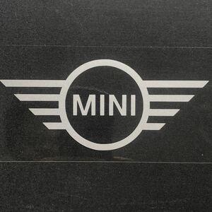 ステッカー MINI メタリックシルバー 16cm