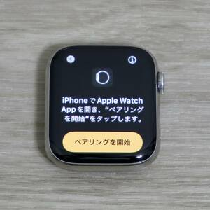 [ completion goods ]Apple Watch Series 6 GPS + Cellular Stainless Steel 44mm silver white sport band AppleCare+ remainder equipped